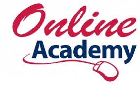 Picture of the words online academy