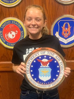 Kourtney Johnson recently committed to the United States Air Force by swearing in at MEPS in Columbus, OH.