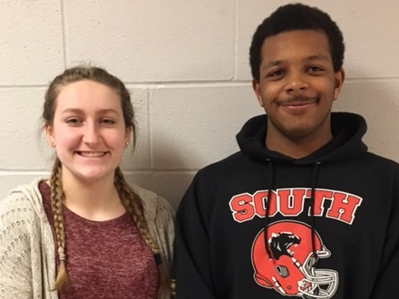Alyssa Clark and Dillon Howard win Excellent rating at district science fair