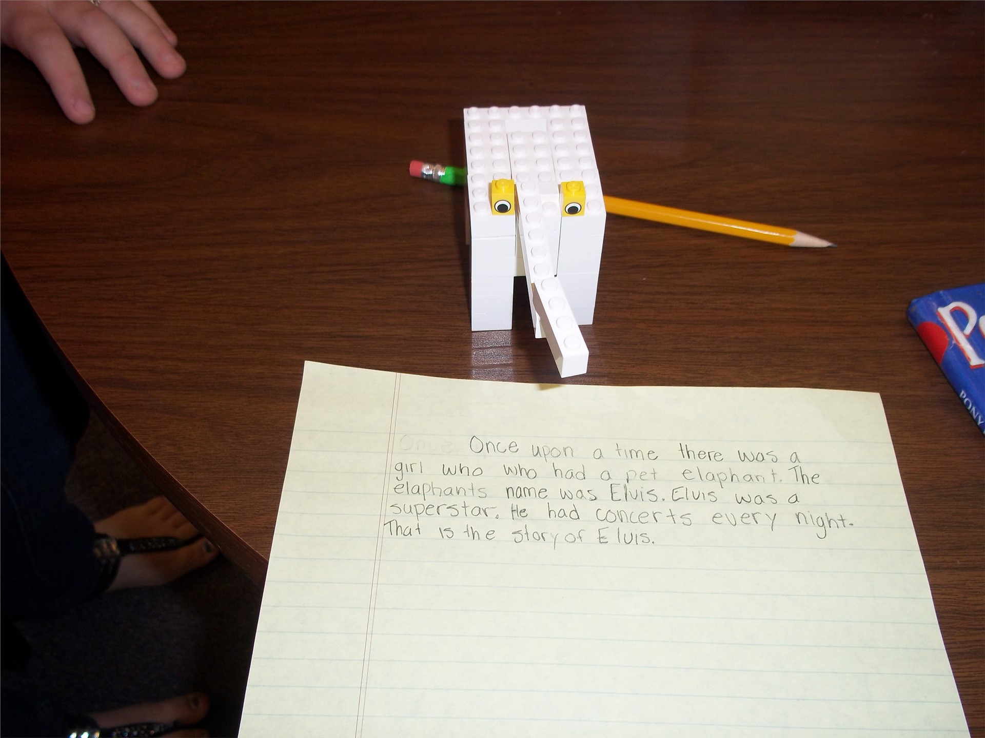 Student's story with lego pictorial.
