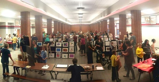 2017 Elementary Art Show Crowd