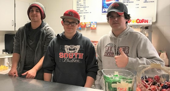 Juniors working concession stand 2018.