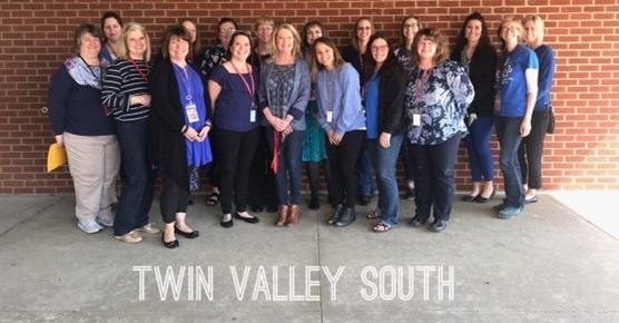 TVS Staff wears blue for Child Abuse Awareness Day 2018
