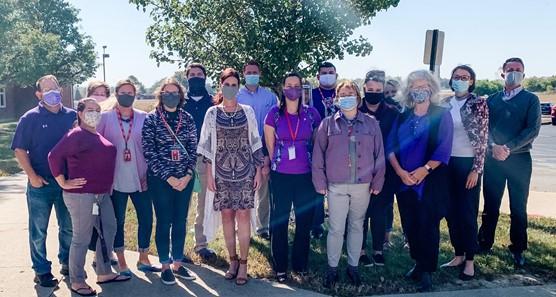 Paint Preble Purple Domestic Violence Awareness Group Picture