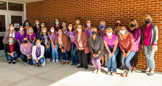 Paint Preble Purple Domestic Violence Awareness Group Picture